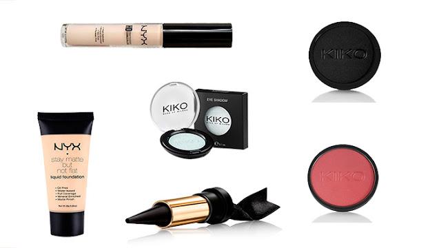 Productos utilizados en maquillaje para halloween.