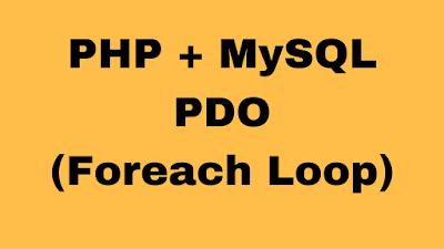 php mysql foreach