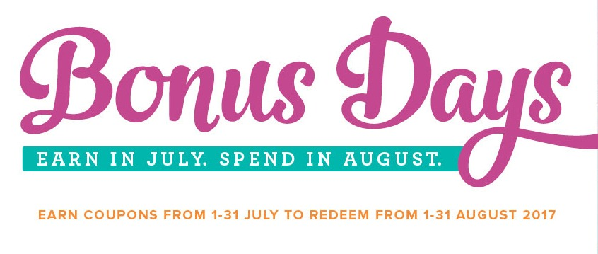 Bonus Days are back for 2017!