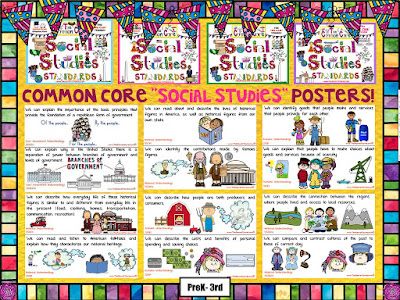 PreK-3rd Common Core Social Studies Posters