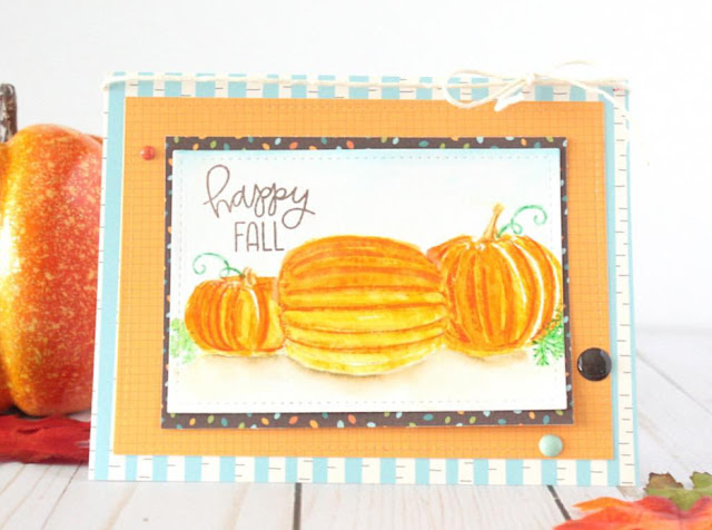 Sunny Studio Stamps: Pretty Pumpkins card by Lisa
