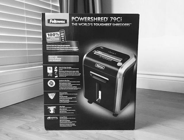 Fellowes Powershred 79Ci Cross-Cut Jam Proof Shredder - Fraud Prevention Month