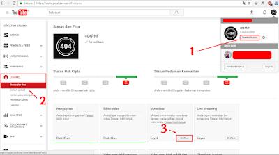 Cara Super Simple Daftar Google Adsense Melalui Youtube 2