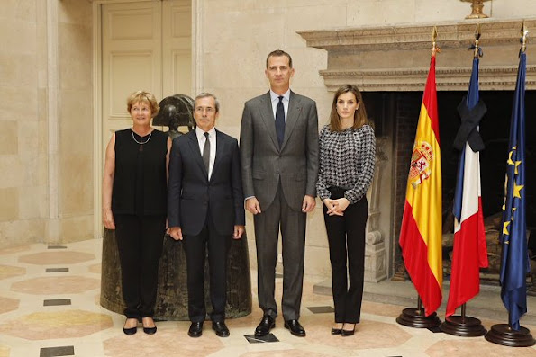 King Felipe and Queen Letizia of Spain visited the residence of Yves Saint-Geour, French ambassador to Spain