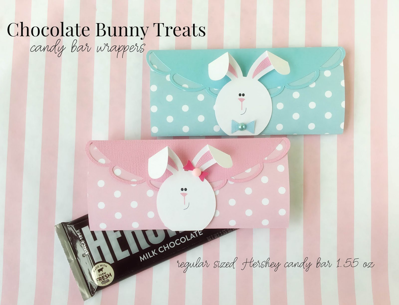 Floppy Ear Easter Bunny Candy Bar Wraps