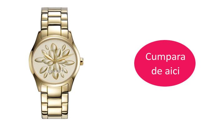 Ceas femei auriu elegant Esprit ES108892003 -45% reducere