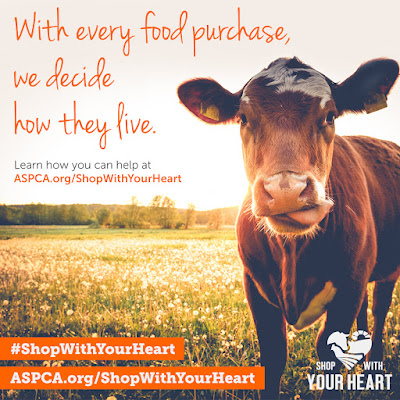With every food purchase, we deicde how they live. #ShopWithYourHeart #ASPCA