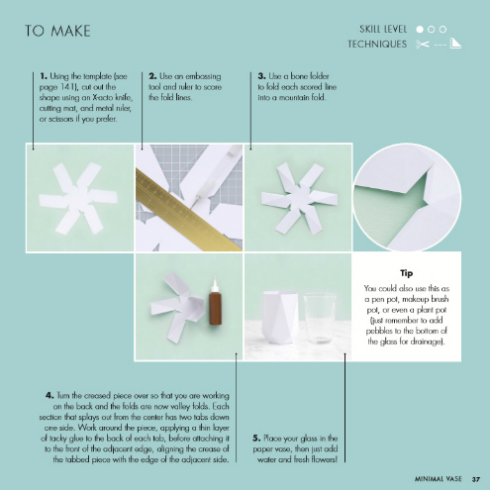 Folded Paper Vase Instructions