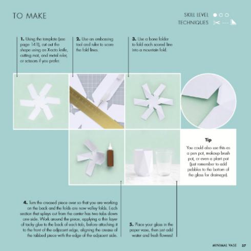 Folded Paper Vase Instructions