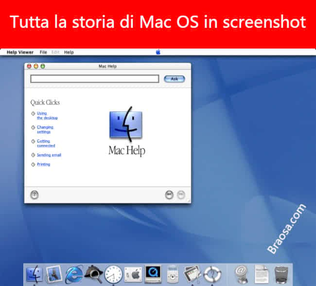 La storia completa di Mac OS X, in screenshot
