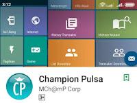 Cara Transaksi Lewat APK Android Champion Pulsa