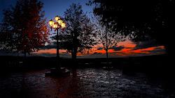 Street Lights & Twilight Sky Creative Commons