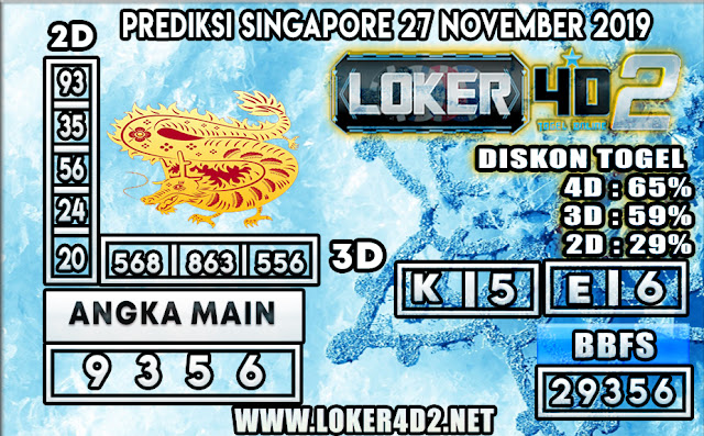 PREDIKSI TOGEL SINGAPORE LOKER4D 2 27 NOVEMBER 2019