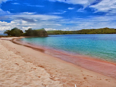 7 Foto Pantai Tangsi Pink Lombok Timur NTB, Dimana Lokasi-nya? Ini Peta Jalan Dan Harga Tiket Masuk