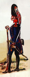 Granadero del Regimiento Fijo de Buenos Aires (1806), por Louis Beaufort