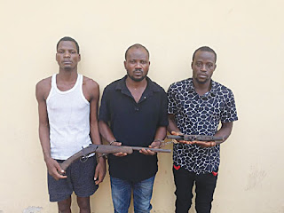 Police arrests 3 suspected members of a notorious Robbery gang in Delta
