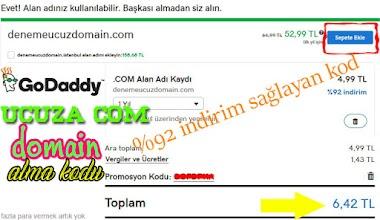 godaddy 5 TL ye domain alma (indirim kodu)