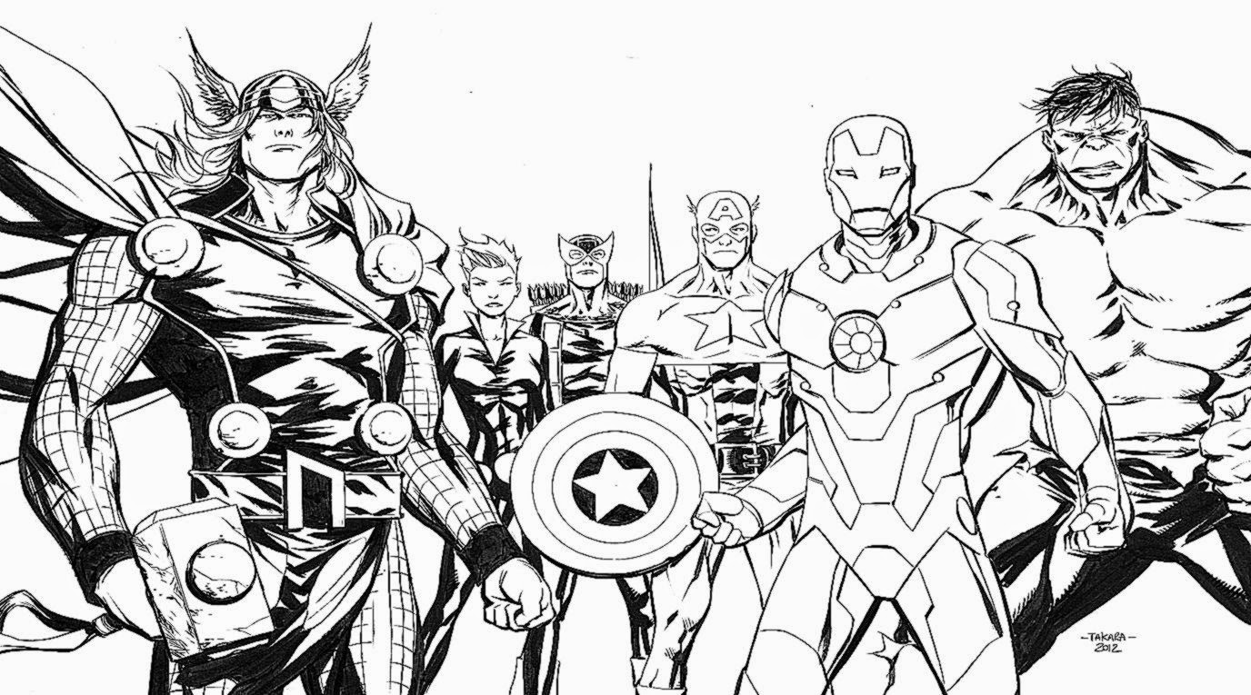 Avengers Coloring Pages Free - Eskayalitim