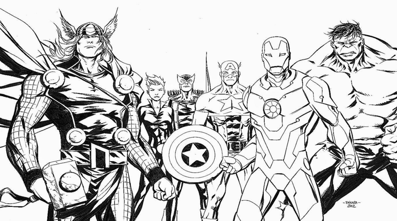 Avengers Coloring Sheet