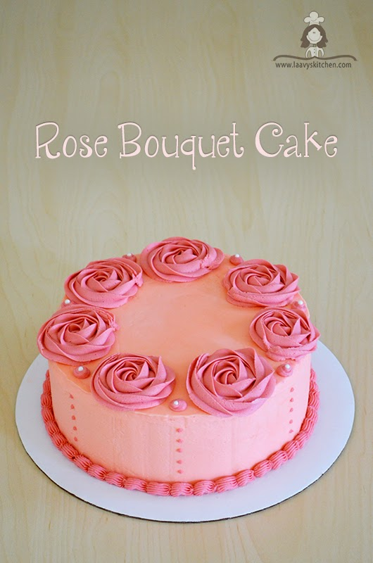 Rose Bouquet Birthday Cake