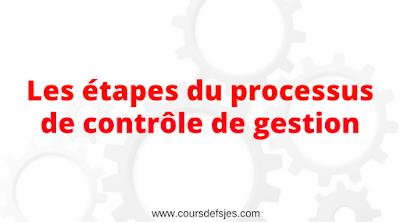 Les étapes du processus de contrôle de gestion