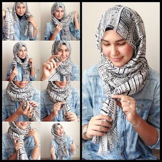 Kreasi Hijab Segi Empat Remaja