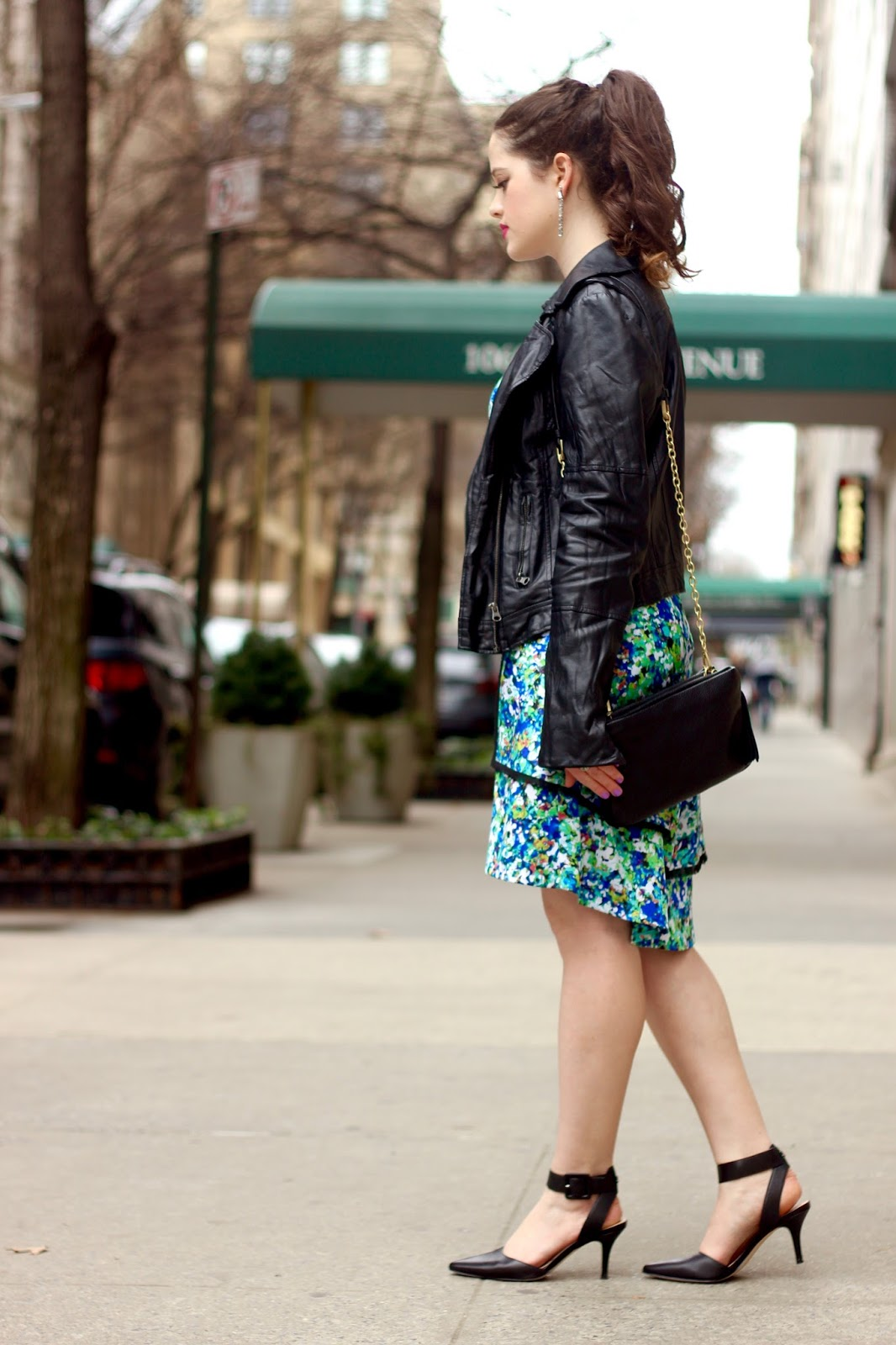 floral dress styling spring fall