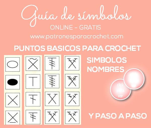 Guía completa de símbolos crochet