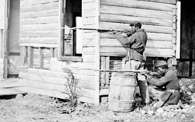 deux soldats armer de springfield