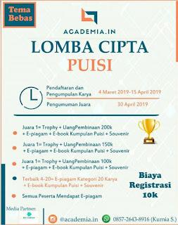 Lomba Menulis Puisi Academia.in 2019 Umum