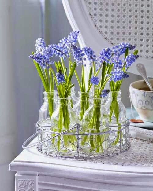spring decoration, basket, flowers, entrance, garden, balcony, vases, jars, crate, table, sofa, cushion, balcony,garden, interior, exterior,