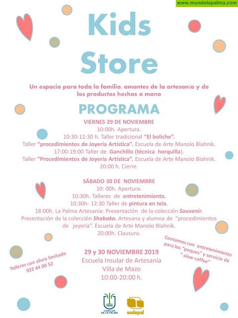 El Cabildo y Sodepal promocionan las artesanías para niños y bebés con la celebración de un 'Kid store'