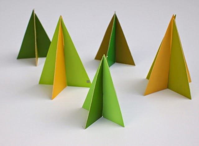 DIY Mini Christmas Trees