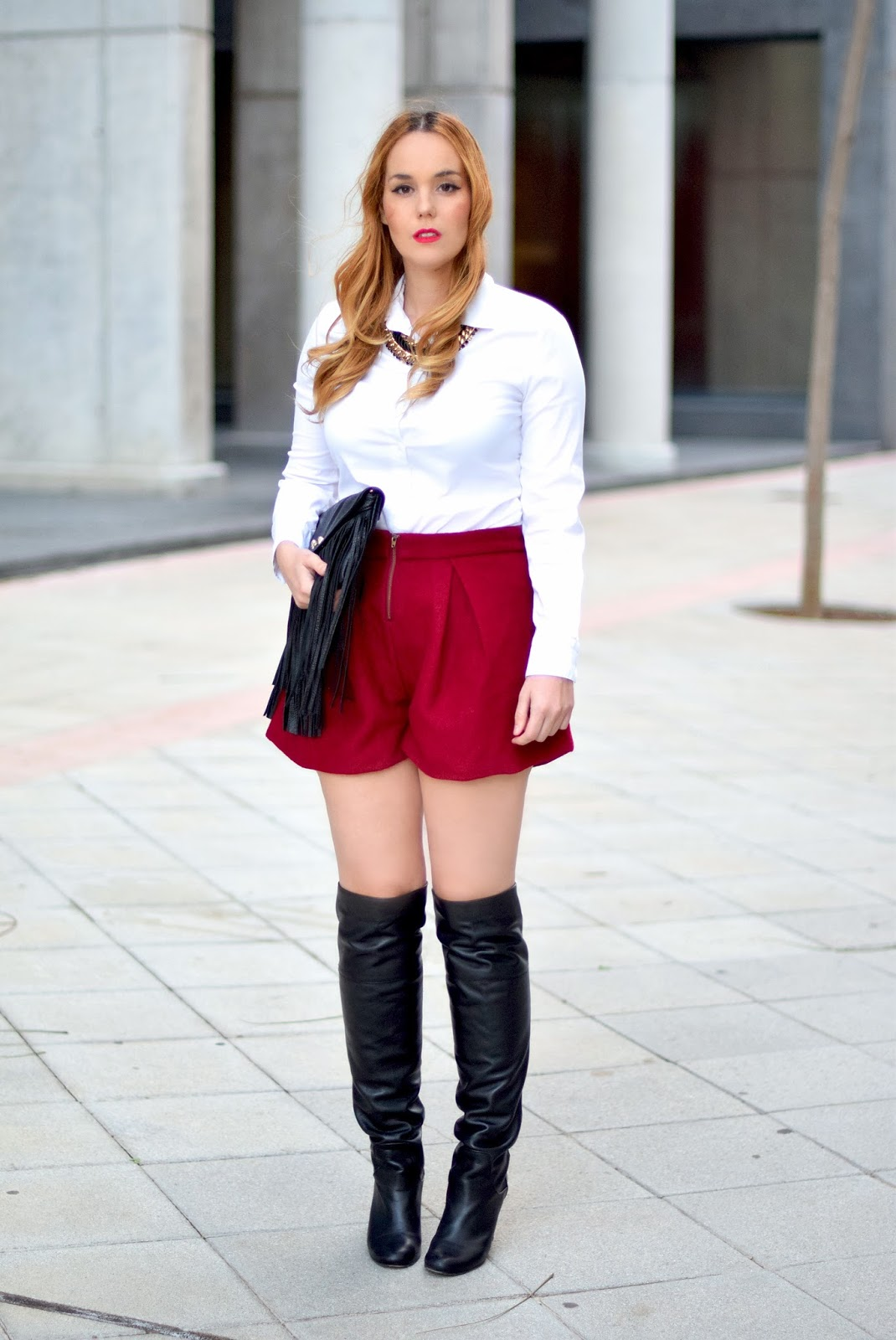 oasap, over the knee boots,nery hdez,burgundy , fringes, bolso de flecos