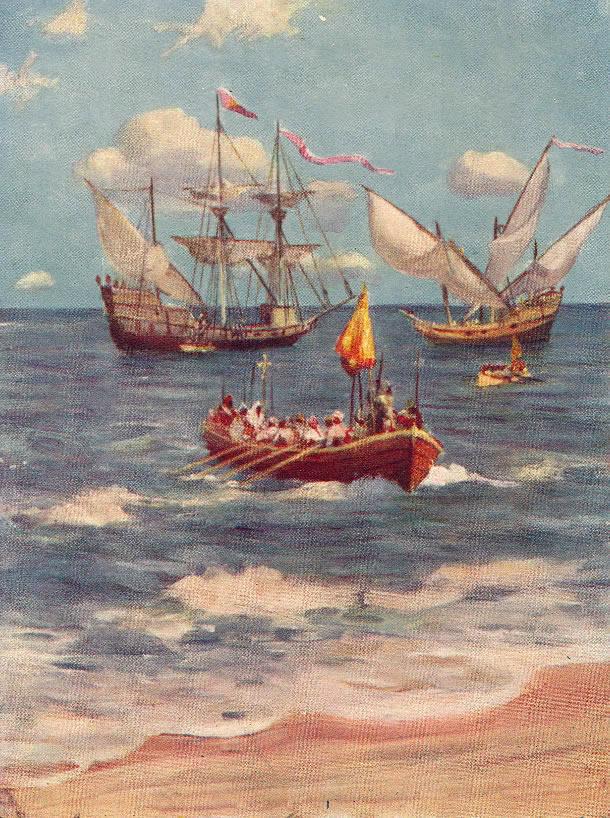 Vasco da Gama landing at Calicut