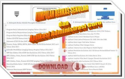 gambar Aplikasi Administrasi Kelas Untuk Guru SD, SMP, SMA dan SMK