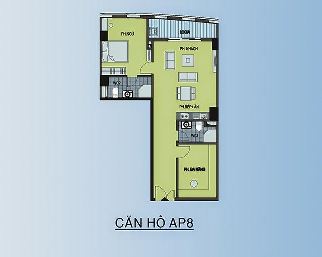 căn hộ AP8 - 90,2m2