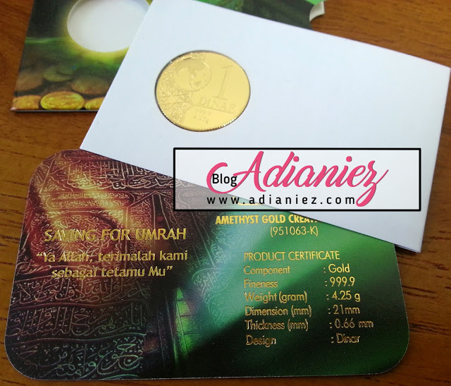 simpanan emas dan dinar untuk tunaikan umrah dan haji