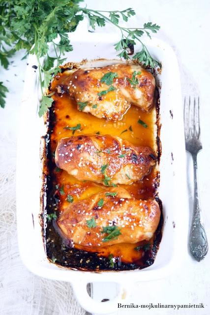 piersi, kurczak, sriracha, tajska, obiad, mieso, bernika, kulinarny pamietnik