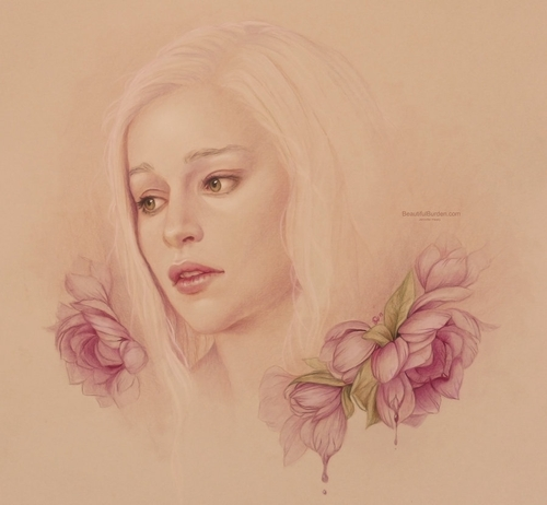 03-Daenerys-Targaryen-GoT-Jennifer-Healy-Traditional-Art-Color-Pencil-Drawings-www-designstack-co
