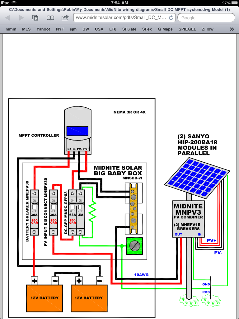 100 Amp Detached Sub Panel Wiring Diagram 2013 Carmate 100 Solar Heated And Cooled Over The Top