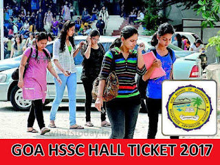 Goa Board HSSC Hall Ticket 2017, Goa 12th HSSC 2017 Admit Card, GBSHSE Hall Ticket