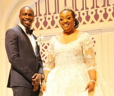 olujuwon obasanjo tolulope adebutu white wedding