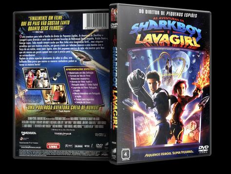 Capa DVD As Aventuras de Sharkboy e Lavagirl