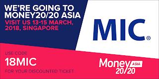 MIC與Money20 / 20攜手合作,協助國內Fintech業者與國際接軌