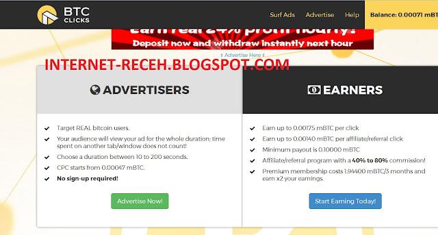 Klik Iklan dibayar BTC #1