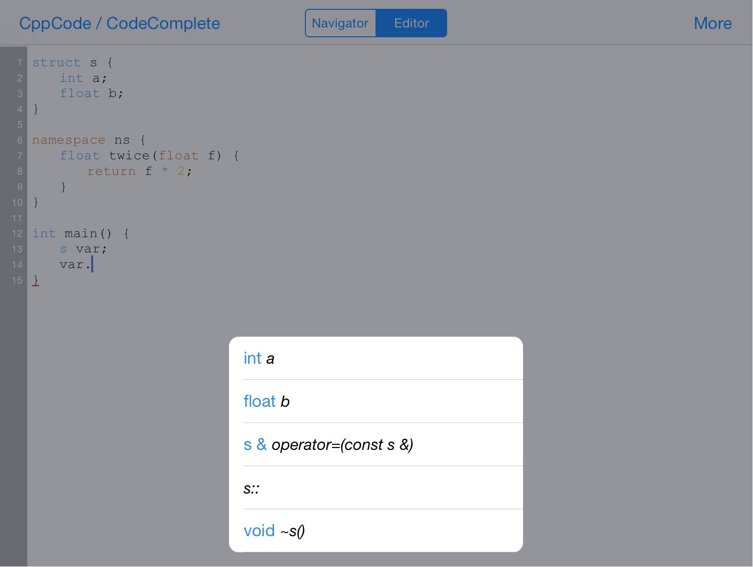 CppCode - offline C/C++ IDE & Compiler on iOS