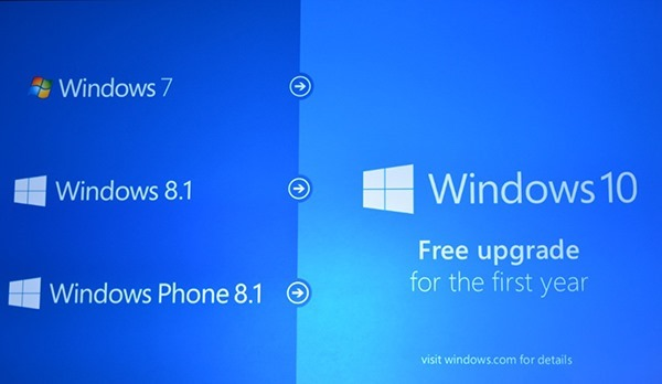 Windows 10 will be free for Windows 7 and Windows 8 users