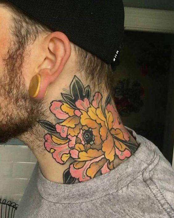 tatuagem para homem neck tattoo