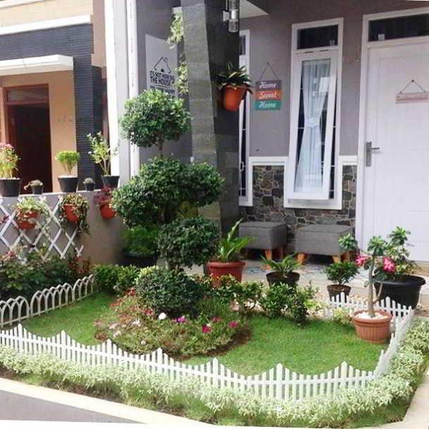 Desain Taman Minimalis Kecil Depan Rumah